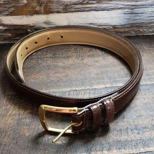 Other - Brown Genuine Upper Leather Brown Belt